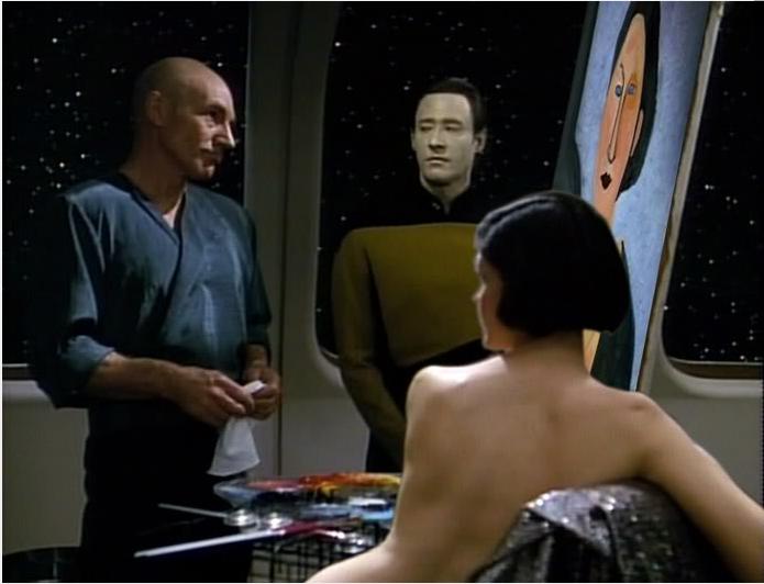 Star Trek Tng Data Painting - Painting